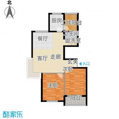江阴外滩名门115.00㎡江阴外滩名门户型图Q户型(8#楼)2室2厅1卫1厨户型2室2厅1卫1厨