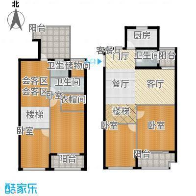 江阴外滩名门224.00㎡江阴外滩名门户型图S户型(3#楼)5室2厅3卫1厨户型5室2厅3卫1厨
