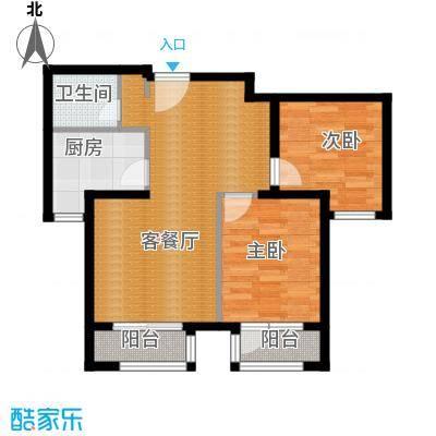 世纪学庭82.95㎡H2户型2室1厅1卫1厨