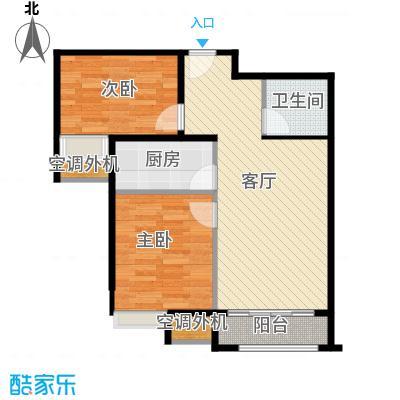 世纪学庭79.42㎡D3户型2室1厅1卫1厨