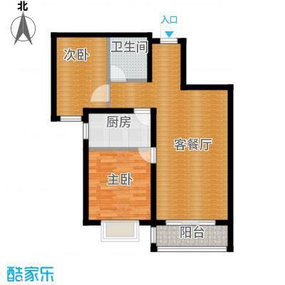 世纪学庭87.36㎡C2户型2室1厅1卫1厨