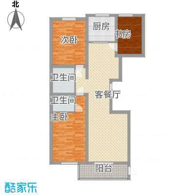 美和蓝湾133.00㎡美和蓝湾户型图庚户型133㎡3室2厅2卫1厨户型3室2厅2卫1厨