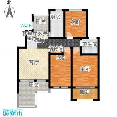 星河蓝湾110.00㎡星河蓝湾户型图E2户型3室2厅1卫1厨户型3室2厅1卫1厨