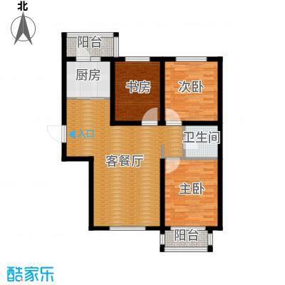 世纪学庭109.78㎡J1户型3室1厅1卫1厨