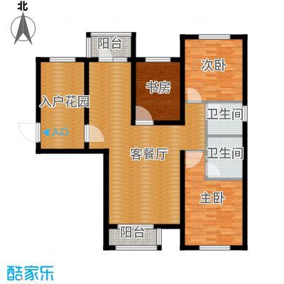 世纪学庭130.90㎡D4户型3室1厅2卫