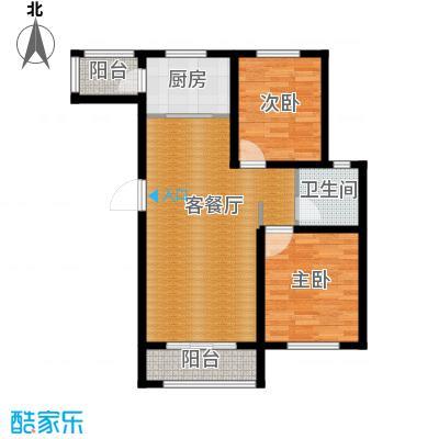 世纪学庭95.55㎡H1户型2室1厅1卫1厨