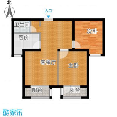 世纪学庭88.76㎡J2户型2室1厅1卫1厨