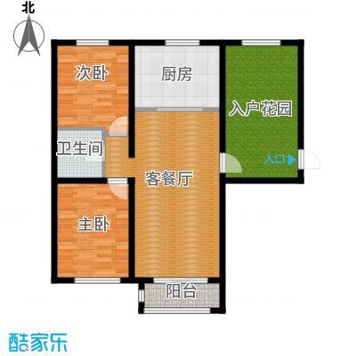 世纪学庭115.82㎡C1户型2室1厅1卫1厨