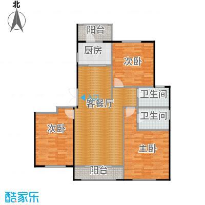 世纪学庭139.34㎡A户型3室1厅2卫1厨