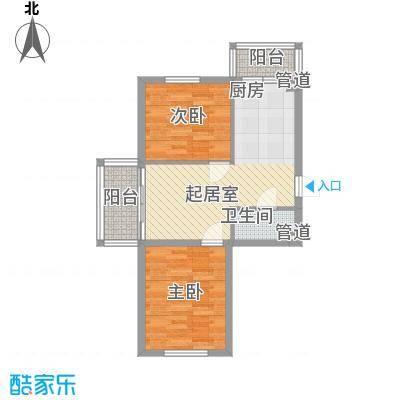 左岸春天74.99㎡左岸春天户型图G户型2室1厅1卫1厨户型2室1厅1卫1厨