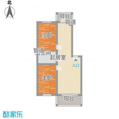 左岸春天89.16㎡左岸春天户型图H户型2室2厅1卫1厨户型2室2厅1卫1厨