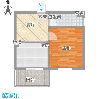左岸春天46.99㎡左岸春天户型图B户型1室1厅1卫1厨户型1室1厅1卫1厨