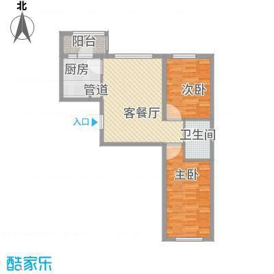 亿达帝景85.00㎡亿达帝景户型图高层C1户型2室2厅1卫1厨户型2室2厅1卫1厨