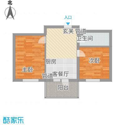 左岸春天55.04㎡左岸春天户型图C户型2室1厅1卫1厨户型2室1厅1卫1厨