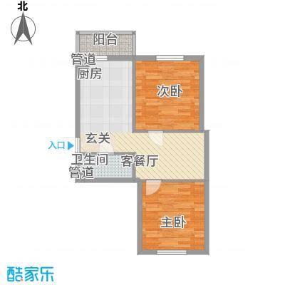 左岸春天70.24㎡左岸春天户型图F户型2室1厅1卫1厨户型2室1厅1卫1厨