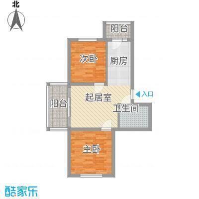 左岸春天73.64㎡左岸春天户型图E户型2室1厅1卫1厨户型2室1厅1卫1厨