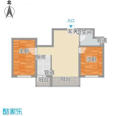 亿达帝景82.00㎡亿达帝景户型图高层D1户型2室2厅1卫1厨户型2室2厅1卫1厨
