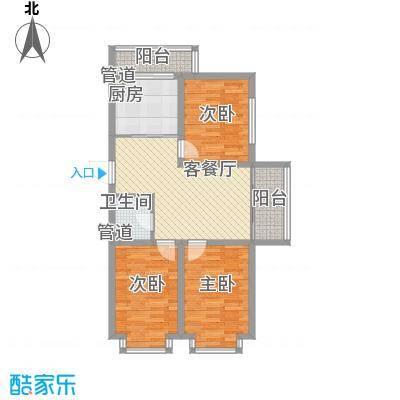新龙城104.08㎡新龙城户型图高层J户型3室1厅1卫1厨户型3室1厅1卫1厨