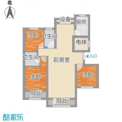 伸马托斯卡纳96.07㎡伸马托斯卡纳户型图户型A3室2厅2卫1厨户型3室2厅2卫1厨