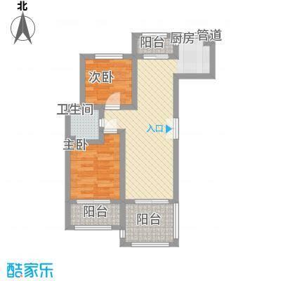 香榭丽舍55.00㎡香榭丽舍户型图L2户型2室2厅1卫1厨户型2室2厅1卫1厨