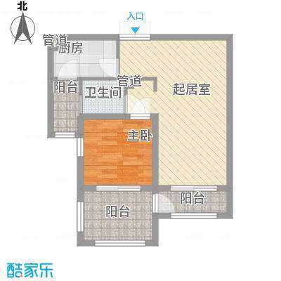 香榭丽舍35.00㎡香榭丽舍户型图K户型1室2厅1卫1厨户型1室2厅1卫1厨