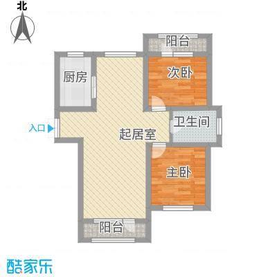 伸马托斯卡纳84.05㎡伸马托斯卡纳户型图户型B2室2厅1卫1厨户型2室2厅1卫1厨