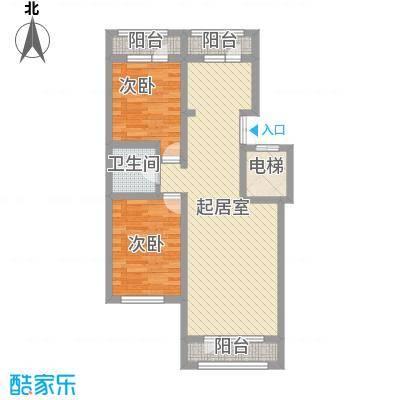 伸马托斯卡纳83.45㎡伸马托斯卡纳户型图户型F2室2厅1卫1厨户型2室2厅1卫1厨