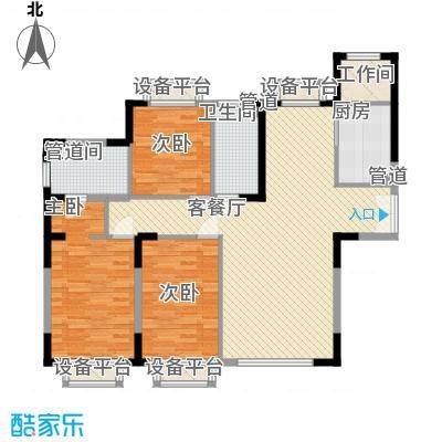 哈佛特区104.00㎡哈佛特区户型图左右2户户型3室2厅2卫1厨户型3室2厅2卫1厨