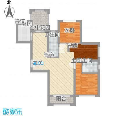 香榭丽舍82.00㎡香榭丽舍户型图一期户型3室2厅2卫1厨户型3室2厅2卫1厨