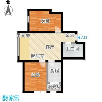 福顺尚景59.12㎡福顺尚景户型图2号楼户型图2室1厅1卫户型2室1厅1卫