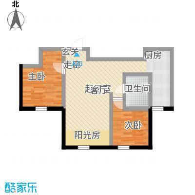 福顺尚景57.57㎡福顺尚景户型图8号楼户型图2室1厅1卫户型2室1厅1卫