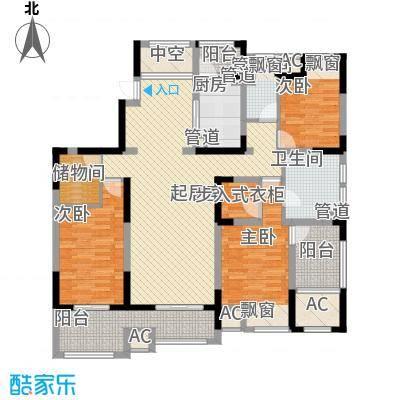 江城国际168.00㎡江城国际户型图5#楼D户型3室2厅2卫1厨户型3室2厅2卫1厨
