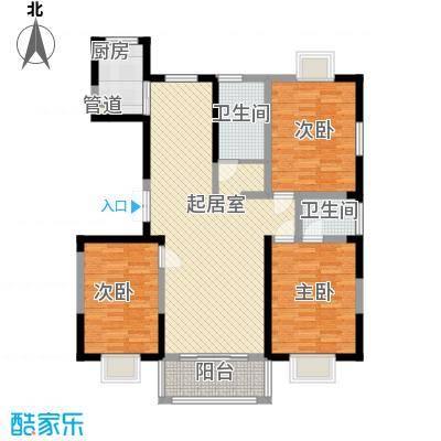绿润名都135.41㎡绿润名都户型图D4户型3室2厅2卫1厨户型3室2厅2卫1厨