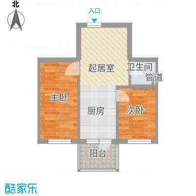 荣兴新越50.17㎡荣兴新越户型图D户型2室1厅1卫1厨户型2室1厅1卫1厨