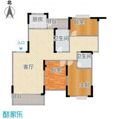 江海皇都146.70㎡e2户型1室1厅2卫1厨