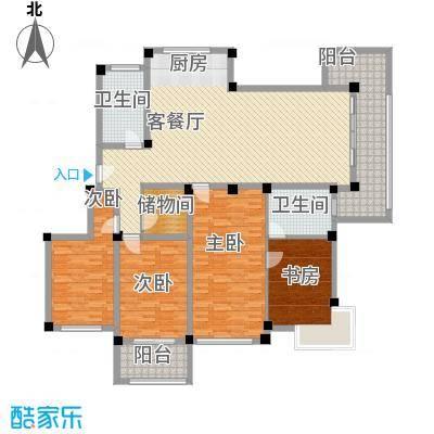 金和家园203.46㎡金和家园户型图K(电梯多层)4室2厅2卫1厨户型4室2厅2卫1厨