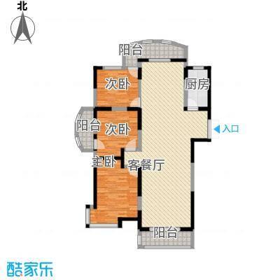 金和家园147.77㎡金和家园户型图H(高层)3室2厅2卫1厨户型3室2厅2卫1厨