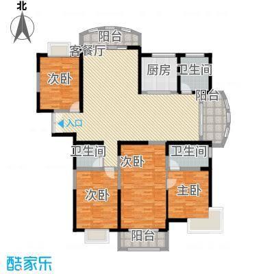 金和家园210.97㎡金和家园户型图K(高层)4室2厅2卫1厨户型4室2厅2卫1厨