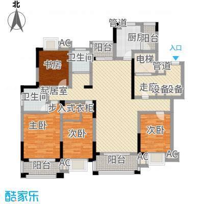 大唐金城174.30㎡大唐金城户型图4#楼E2户型4室2厅2卫1厨户型4室2厅2卫1厨