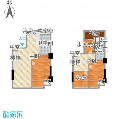 通商华富国际广场户型图Loft-C户型 4室3厅2卫1厨