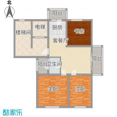 盛世香湾户型图多层A1户型 3室2厅1卫