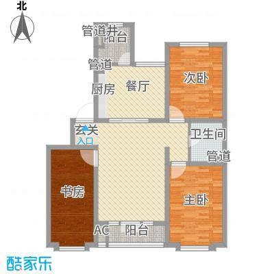金水湾花园户型图三室两厅一卫3 3室2厅1卫1厨