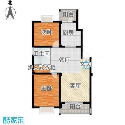 江城壹品108.48㎡G户型2室2厅1卫1厨