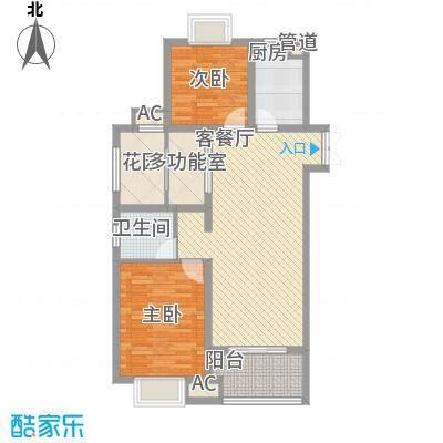 双汇国际106.00㎡6号楼06室户型3室2厅1卫