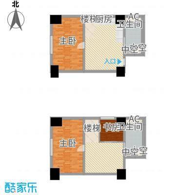 通商华富国际广场户型图Loft-E户型 3室3厅2卫1厨