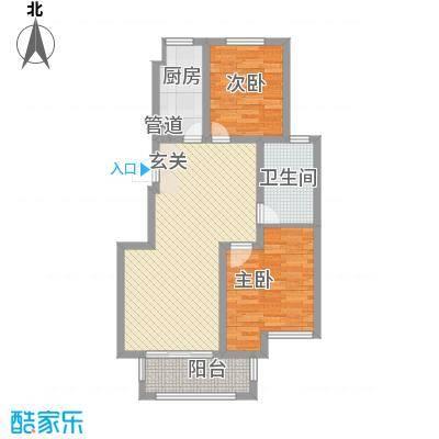金水湾花园户型图金水湾精巧雅室 2室2厅1卫1厨