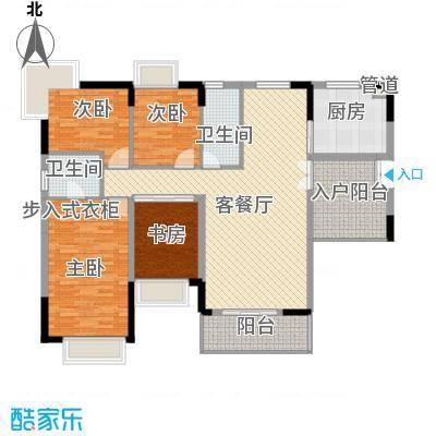 金水湾花园户型图四室两厅两卫1 4室2厅2卫1厨