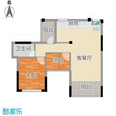金水湾花园户型图两室两厅一卫9 2室2厅1卫1厨