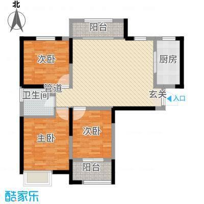 金水湾花园户型图三室一厅一卫1 3室1厅1卫1厨