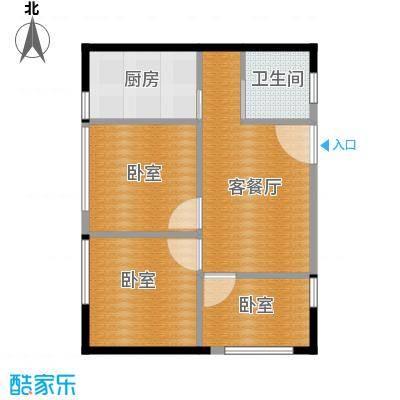 鑫湖国贸中心74.57㎡D户型1厅1卫1厨